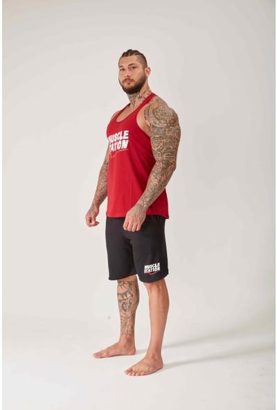 Musclestation Toughman Tank Workout Dark Cherry Fitness Atlet