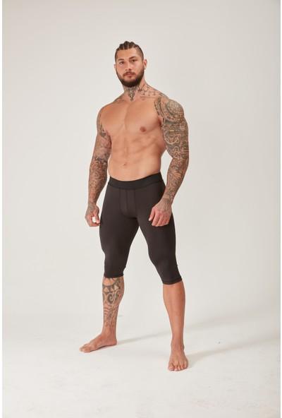 Musclestation Toughman Erkek Siyah Antreman Knee Tayt