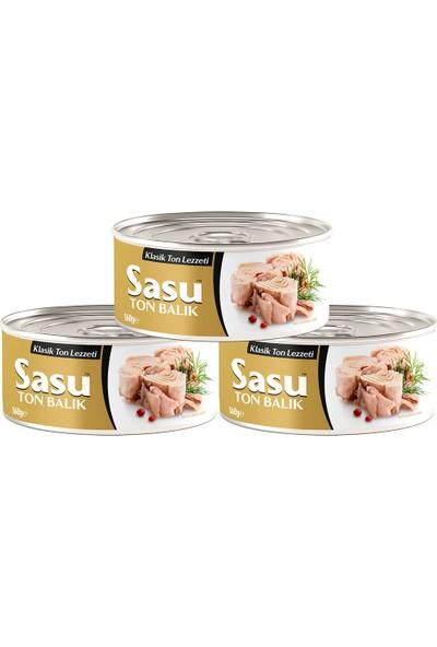 Sasu Klasik Ton Balığı 3X160G Bütün Dilim