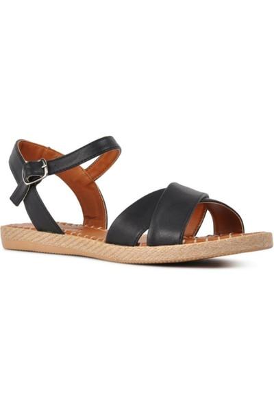 Park Fancy Fany Kadın Hasır Çapraz Düz Günlük Sandalet 1049