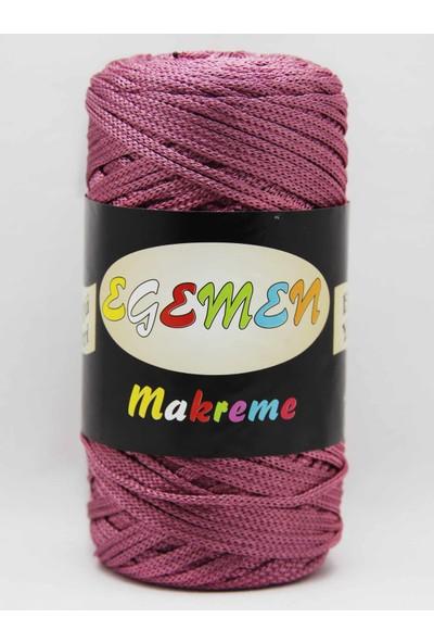 Egemen 4 No 38 Koyu Gül Polyester Floş Makrome Ipliği 250 gr Egemen