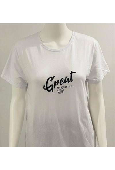 Ada Beyaz Tişört