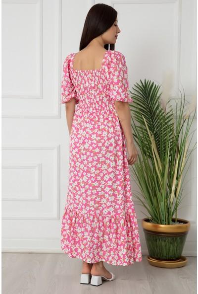 Kalopya Bayan Dokuma Gipeli Maxi Elbise 2698