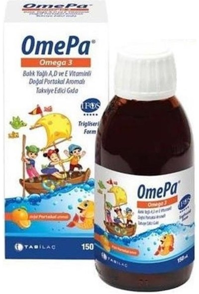 Nbl Omepa Omega 3 A-D ve E Vitamini Portakal Aromalı 150 ml