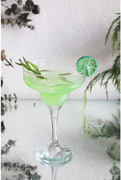 Adamodart Lime Dilim Cam Figürlü Tekli Margarita Bardağı