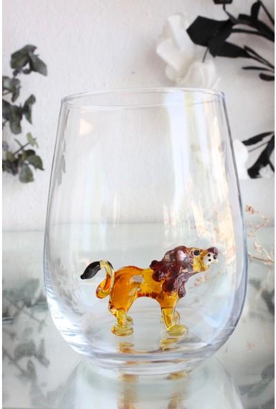 Adamodart Aslan Figürlü Tekli Su Bardağı