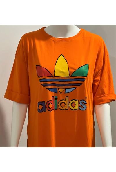 Ada Adidas Turuncu Renkli Tişört