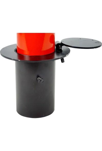 İlgi Trafik Kilitli Otopark Direği 70 cm 70MM 2.5 mm Kırmızı Renk 1 Adet