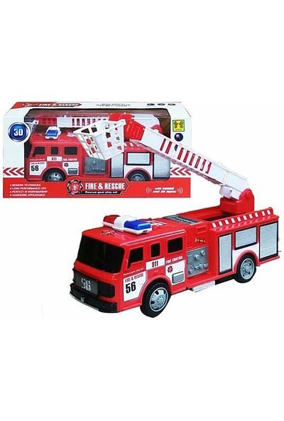 Happy Toys Fire & Rescue Sesli ve Işıklı Çarp Dön Itfaiye