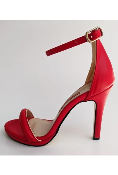 Bablisok DNL-106 Ince Topuk Tek Bantlı Kadın Sandalet