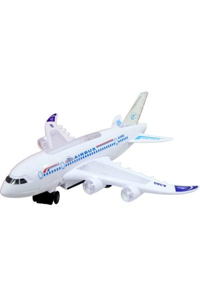 Happy Toys Airline Pilli Işıklı Sesli Çarp-Dön Uçak