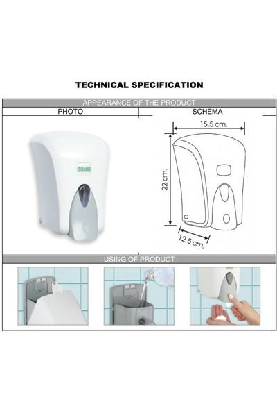 Vialli F6C Hazneli Köpük Dispenseri 1000 ml Krom