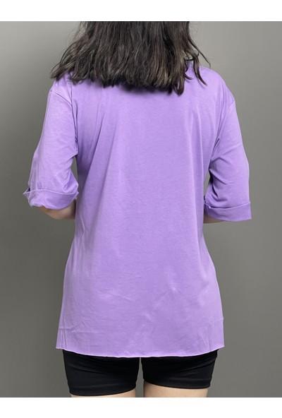 Wınd Gıyım Wind Kadın Love Ayıcık Baskılı Tshirt