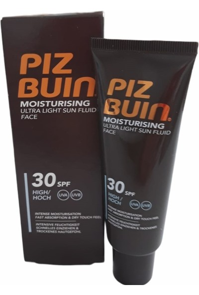 Piz Buin Moısturısıng Ultra Lıght Sun Fluıd Face 30 Spf 50 ml Ultra Hafif Akışkan Yüz Kremi Yüz Kremi