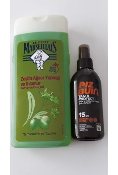 Piz Buin Tan & Protect Spray Spf 15 150ML( Bronzluğu Uzatıcı) + Le Petit 650 Duş Jeli