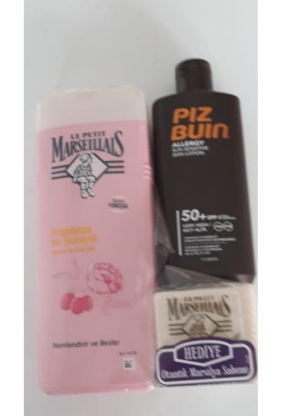 Piz Buin Allergy Sun ( Hassas Ciltler Için) Güneş Losyonu Spf 50 200 ml + ( Marselıaıs 400 ml Duş Sabunu)