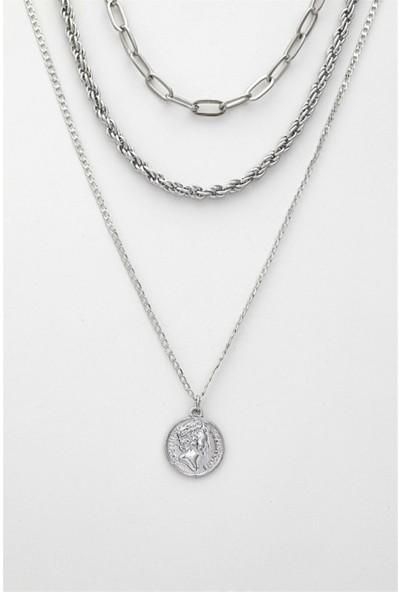 Sortie Accessories Kombin Kolye 023 Gümüş Rengi