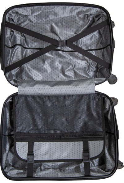 Valja VL-240 Noktalı Cam Göbeği Kabin Boy Valiz