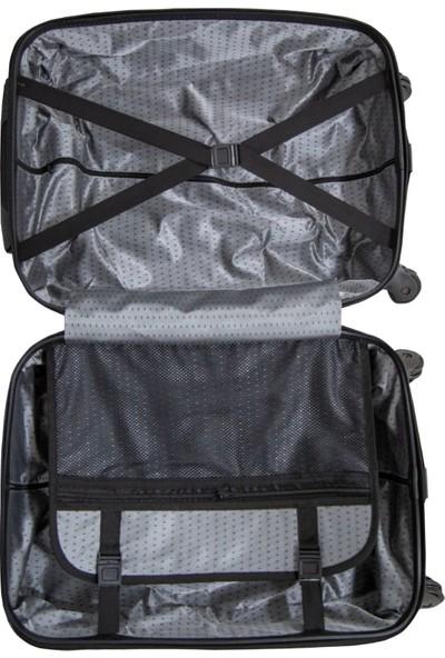 Valja VL-240 Noktalı Cam Göbeği Orta Boy Valiz