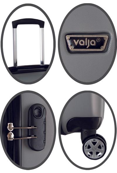 Valja VL-280 Milano Serisi Gümüş Kabin Boy Valiz