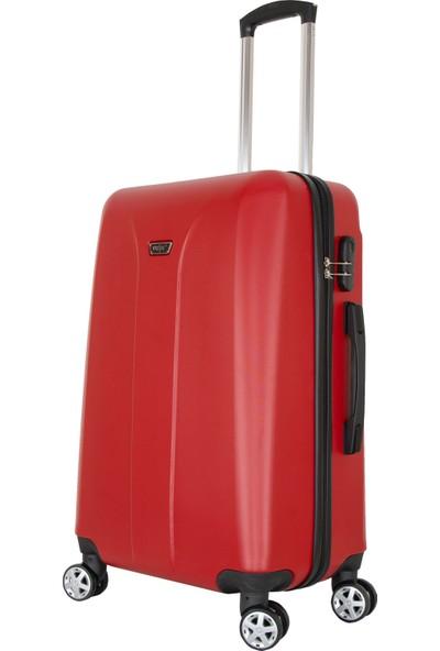 Valja VL-280 Milano Serisi Kırmızı Orta Boy Valiz