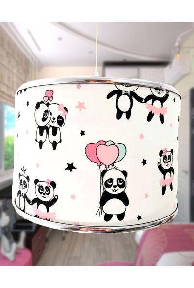 Uyumamy Panda Bebek Avizesi Çocuk Odası Abajuru Aydınlatma Sevimli Sarkıt