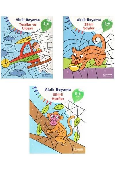 Uçanbalık Yayıncılık 5-6 Yaş Akıllı Boyama Kitap Seti 3 Kitap