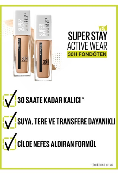 Maybelline Super Stay Active Wear 30H Fondöten 07 Classic Nude Nude Naturel 30ML