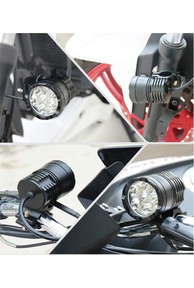 Strade Store Evrensel Motosiklet LED Far Beyaz Sis Far Dış Yardımcı Lamba (Yurt Dışından)