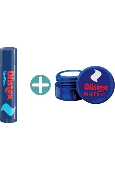 Blistex Medplus Dudak Koruyucu Kavanoz 7ml + Medplus Dudak Koruyucu Stick