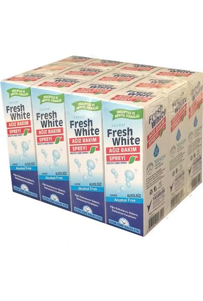 Fresh White Ağız Bakım Spreyi 30 ml 12'li Paket