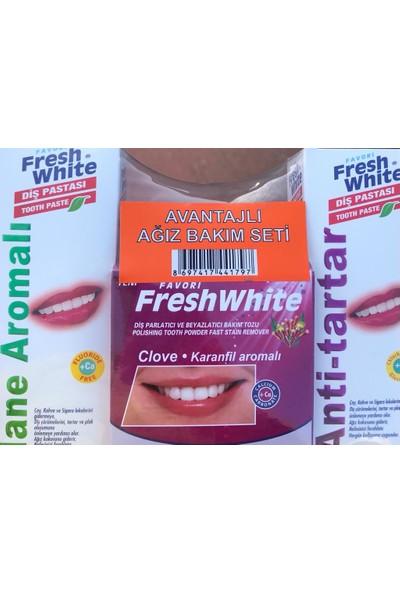 Fresh White Avantajlı Aromalı Ağız Bakım Seti (3'lü Set)