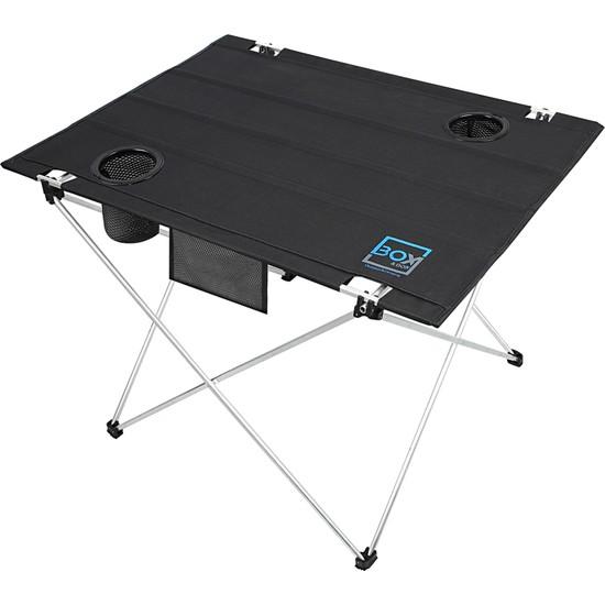 Box&box Bardak Gözlü, Omuz Askılı, Katlanabilir Kamp ve Piknik Masası 73X55X48 cm